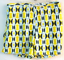 4XL/48W Swim Trunks/Surf Shorts-Yellow Abstract Color-TaylorByrd-NWT-Big & Tall