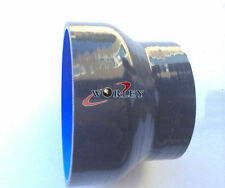 "3""-4"" INCH 76-102MM SILICONE HOSE STRAIGHT REDUCER JOINT TUBE PIPE BLACK"