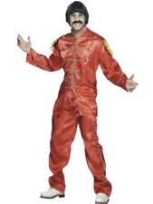 Psychedelia Beatles Costume L Sargeant Pepper Costume red  - MENS FANCY DRESS