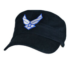 U.S. Air Force Logo Flat Top Hat - USAF Dark Navy Baseball Cap 6560