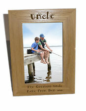 Uncle Wooden Photo Frame 4x6 - Personalise This Frame - Free Engraving