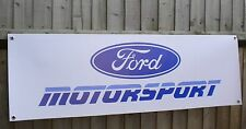 Ford motorsport retro atelier \ garage pvc banner 1990s, escort course, rally voiture