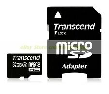 Transcend Micro SD HC 32GB 32G Class 4 C4 with Adapter Flash Memory Card New