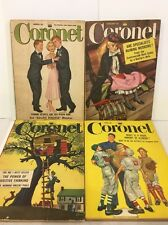 Vintage Coronet Magazine (Lot Of 4), Vintage Ads, 1950's - South Pacific