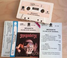 MEGADETH - Killing is my business... MC 1990 RARE 1'ST POLISH PRESS NM cream