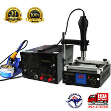 For YIHUA Hot air gun Soldering Rework Station DC Power 5A Preheat stand holder