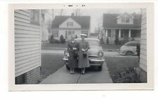 Vintage Photo 2 Well Dressed Women, Classic Pontiac Car, Easter, 1950's, May