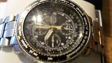 Used Seiko SNA411 chronograph watch pilots Flight Master