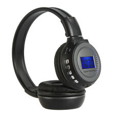 Wireless Stereo Headphone Headset MP3 SD Card Music Player FM Radio LCD Display