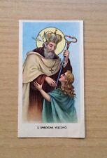 SANTINI - IMMAGINE DI SAN SPIRIDIONE VESCOVO - EGIM 74 - ORIGINAL HOLY PICTURE
