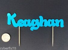 Any name cut out tooth pick cake topper, Many colours available