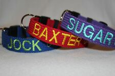 Personalised Embroidered Dog Collar