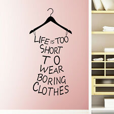 Life Is Short Quote Wall Sticker Art Vinyl Decal Home Room Decor DIY Removable A