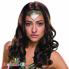 Adults Womens Deluxe Wonder Woman Wig Batman vs Superman Fancy Dress Accessory