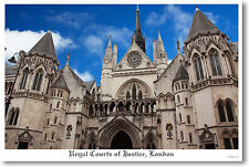 Royal Courts of Justice London England Travel POSTER