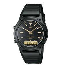 Casio AW49HE-1A Men's Resin Strap Black Dial Analog Digital Dual Time Watch