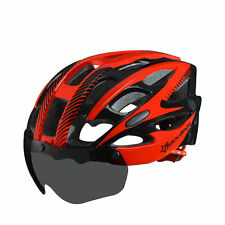 RockBros Cycling Bicycle Helmet Road MTB Bike Helmet with Goggle L/XL Black Red
