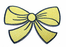 A1314 Aufnäher Patch Rockabilly Old School Tattoo Schleife Rockabella gelb bow