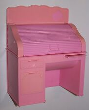 Vintage 1988 Barbie Pink Computer Desk Dollhouse Furniture by Mattel