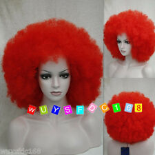 Charm women & men red big Afro Ladies top Synthesis Wigs + free wig cap