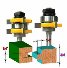 """2 pc 1/4"""" Sh 1/4""""x1/4"""" Tongue & Groove Joint Assembly Router Bit Set sct-888"""