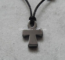Hematite Egyptian Ankh Cross Black Adjustable Cord Pendant/Necklace Gothic UK