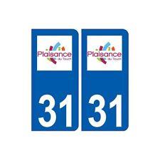 31 Plaisance-du-Touch logo ville autocollant plaque stickers arrondis