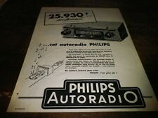 PHILIPS - AUTORADIO - Publicité de presse / Press advert !!! 1958 !!!