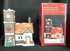 Dickens Collectables Watchmaker Xmas Village Bisque Porcelain House Lighted