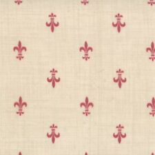 ROUENNERIES DEUX~by 1/2 YD~MODA~13605-21~FRENCH GENERAL FAV~FLEUR DE LIS/PEARL