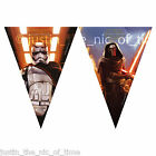 STAR WARS THE FORCE AWAKENS BUNTING FLAG BANNER Boys Birthday Party Decorations