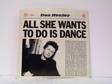 """DON HENLEY """"ALL SHE WANTS TO DO IS DANCE / BUILDING THE PERFECT BEAST"""" 45w/PS"""
