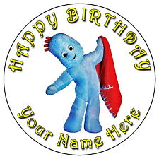 """IN THE NIGHT GARDEN IGGLEPIGGLE - 7.5"""" PERSONALISED EDIBLE ICING CAKE TOPPER"""