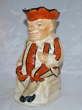 ANTIQUE FIGURAL STAFFORDSHIRE POTTERY TOBY PITCHER JUG MR. PUNCH JUDY