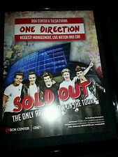 One Direction Sold Out BOK Center Tulsa Rare Promo Poster Ad Framed!