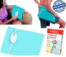 Electric Heating Pad Blanket Large King Size Sunbeam Back Therapy Pain Relief