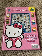 Hello Kitty Bubble Magnet Book with Over 40 Magnets 3+ years