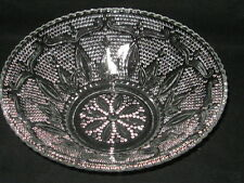 """Vintage Heritage Crystal 10.5"""" FRUIT BOWL by Federal Glass Co. 1940 - 1955 - EUC"""