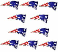 (Set of 10) New England Patriots iron on patches, 3 inch 100% embroidered emblem