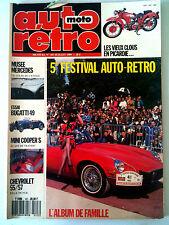 AUTO RETRO n°107; Essai Bugatti 49 / Mini Cooper S / Chevrolet 55 /57