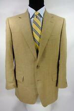 Dunhill Men's 2 Btn Sport Coat Jacket Beige Teal Herringbone Wool Tweed 40 R US