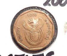 CIRCULATED 2008 50 CENTS SOUTH AFRICA COIN!  (82315)