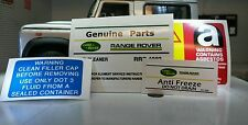 Land Rover Defender 90 110 V8 19J  Decal Sticker Label Under Bonnet Engine Set