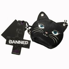 FEMININE FELINE Cat Coin Purse Banned Apparel Emo Gothic Kawaii Cat Lovers Gift