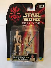 "STAR WARS JEDI OBI-WAN KENOBI & BATTLE DROID 2 FIGURE PACK - 4"" SCALE - EP1"