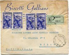 1951 Italia al Lavoro RACCOMANDATA Biscotti Galliano Fossano
