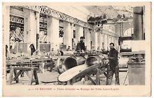 CPA 71 - LE CREUSOT (Saône et Loire) - 49. Usines Schneider. Montage des Tubes