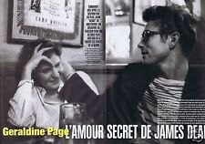 Coupure de presse Clipping 2005 Geraldine Page & James Dean (4 pages)