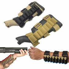 Tactical Cartridge Forearm 12GA Holder Rifle Shell Pouch Stock Accessory