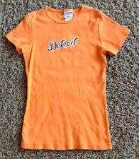 "VINTAGE DETROIT TIGERS MLB  # 30 ORDONEZ  SHORT SLEEVE TEE-JERSEY WOMEN""S  SMALL"